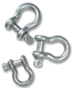 154584 SILVER PIN BOW SHACKLE 1.00SWL